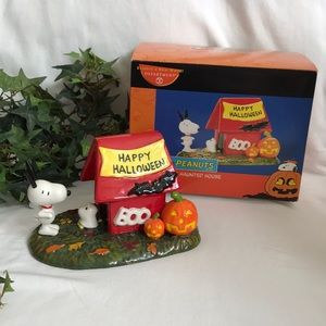 """Retired 2007- Dept 56- """"SNOOPY's HAUNTED HOUSE"""""""